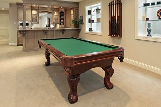 Pool table room sizes in Bakersfield